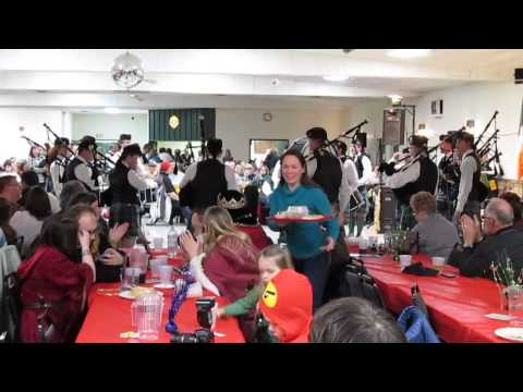 Grand Traverse Pipes and Drums - 2014 Flint Scottish Pipe Band Ceilidh (Part 1)