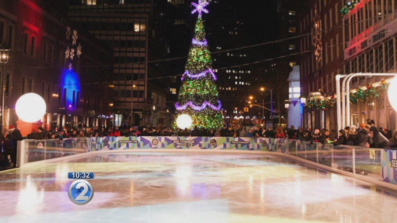 Christmas Ice Skating.Ward Village To Debut Open Air Ice Skating Rink This Winter
