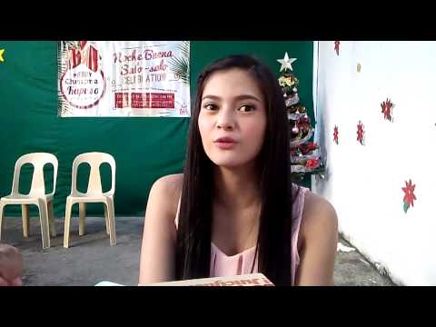 Bianca Umali interview during GMA Noche Buena at New Hope