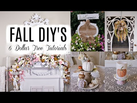 "🍁6 DOLLAR TREE FALL DECOR DIYS / ""I love fall"" ep. 5🍁"