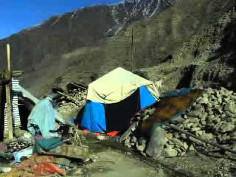 Earthquake affected people Chitral
