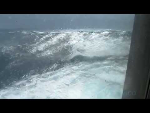 Ms Rotterdam in Stormy Weather on The Atlantic