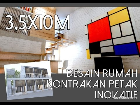Rumah Petak Satu Setengah Lantai 3,5x10m