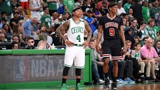 INCREDIBLE Rajon Rondo full court assist to Jimmy Butler | April 18, 2017