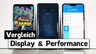 HTC U12 Plus vs. LG G7 ThinQ  vs. OnePlus 6 - Display & Performance Test (Deutsch)
