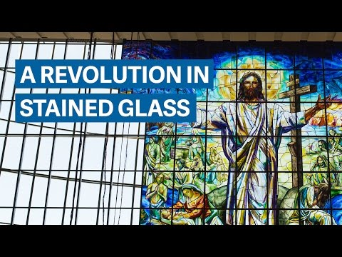 Making the largest single stained glass window in the world