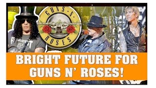 guns n roses news bright future for axl slash and duff