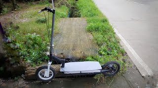 make your own long range electric scooter from scrap