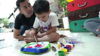 JANJI SUCI - Kocaknya Papa Raffi Rusuhin Rafathar Yang Lagi Melukis (24/8/19) Part 3