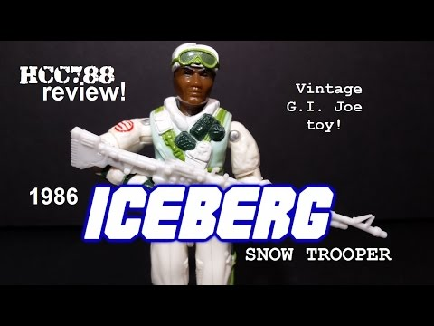 HCC788 - 1986 ICEBERG - Snow Trooper - Vintage G.I. Joe toy review!