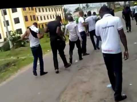University of Port Harcourt final year students after their exams
