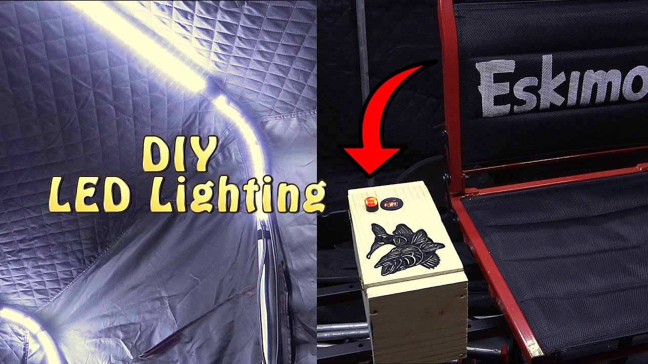 how to add led lights to your ice fishing house - youtube, Reel Combo