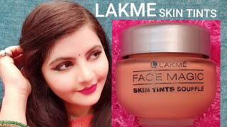 LAKME face magic skin tints soufflé review & demo | fair skin | RARA