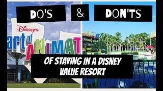 Tips For Staying At Disney Value Resorts| Disney Value Resorts| Pop Century|Art of Animation