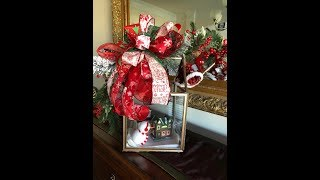 How to make a lantern and swag with Dollar tree picture frames and Dollar tree ribbon