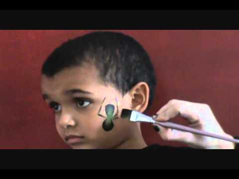 Face Painting Spider Fast Easy Boy Design In Less Than 30 Sec Visit Www Facepaintingparadise Com