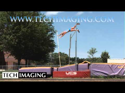 High Speed Camera Video - Pole Vaulter
