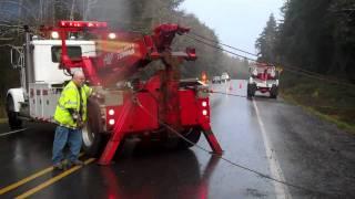 semi truck and dump trailer wreck  part 2