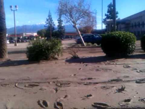 Loma Linda Flooding Cleanup, Mountain View Ave - Rite Aid Parking Lot