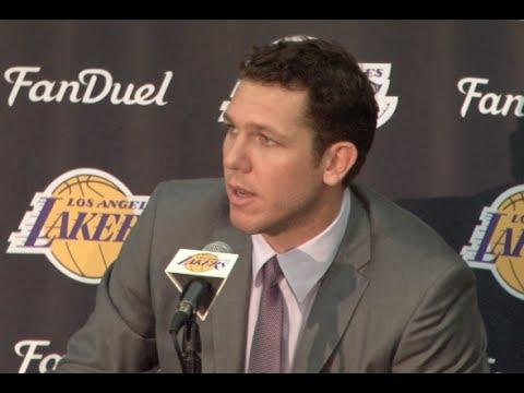 Lakers introduce Luke Walton as new head coach