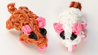Rainbow Loom 3D Maus Deutsch Anleitung