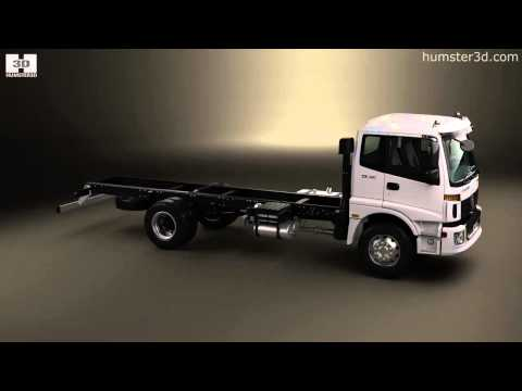 Foton Auman TX 1621 Chassis Truck 2axle 2012 by 3D model store Humster3D.com
