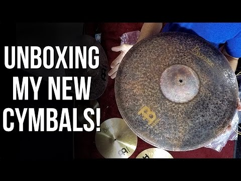 Unboxing My New MEINL Cymbals | ABBDRUMS