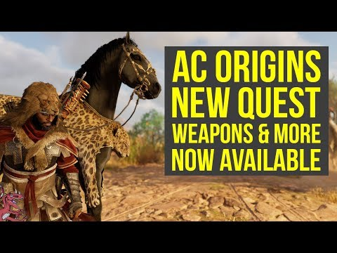 Assassin's Creed Origins DLC 'NEW' QUEST, MOUNT & Tribal Pack Weapons & More (AC Origins DLC)
