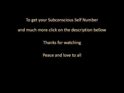 what does Subconscious Self Number mean ?