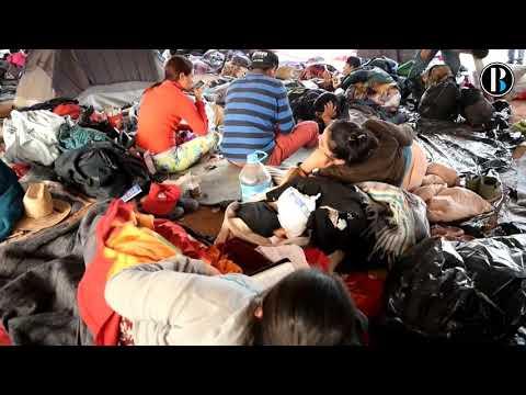 Albergue de migrantes en Tijuana cerca del punto crítico de hacinamiento