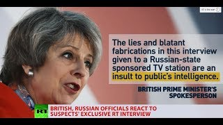 Skripal poisoning suspects' RT interview: British & Russian officials react