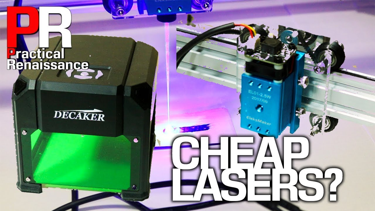 Comparing inexpensive Laser engravers: the Decaker 1 5W laser and  Eleksmaker A3 Pro 2 5W