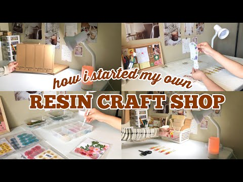How I Started My Own Resin Craft Shop | Initial Capital, Materials, Packaging, & Online Shop