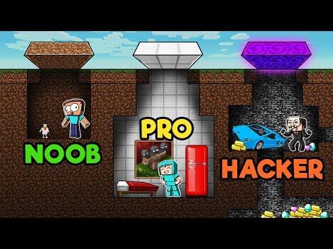 Minecraft - NOOB PRO HACKER - Secret Underground Base!