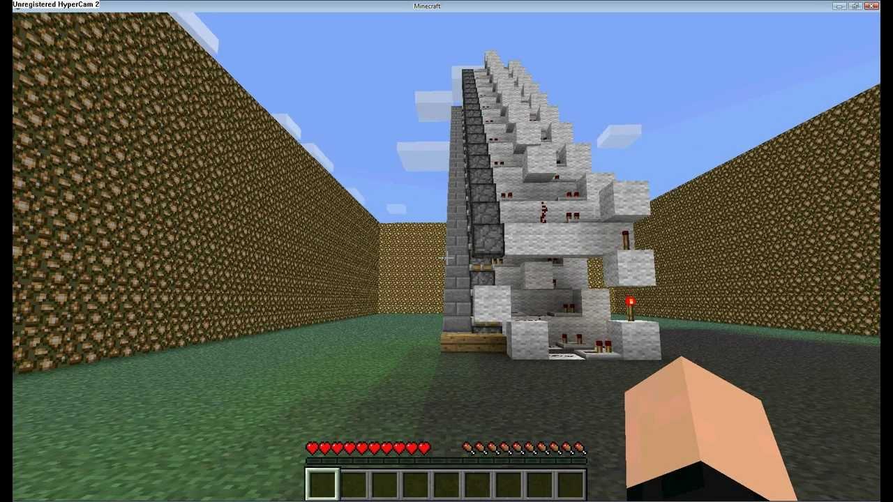 Minecraft Ciekawe Pomysly 1 Ruchome Schody Youtube