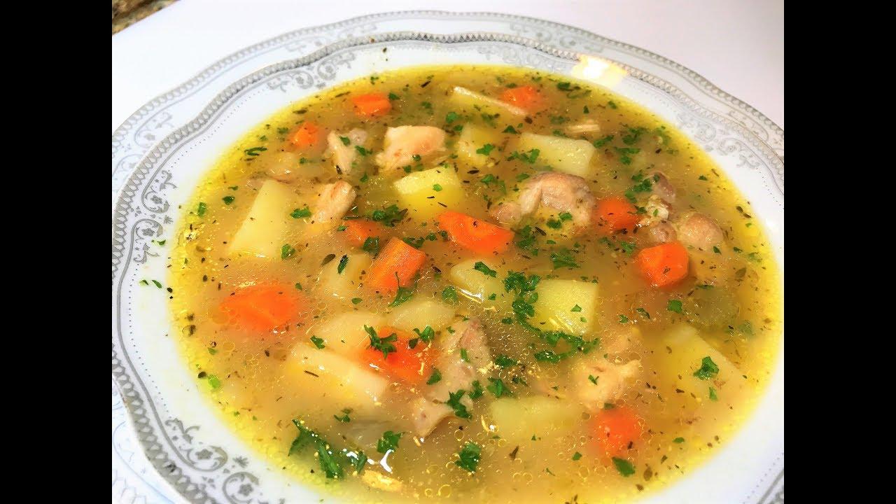 Легкий суп из курицы рецепт #10