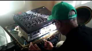 Jah Bunny mixing and dubbing Errol Bellot
