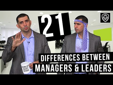 21 Differences Between Managers & Leaders