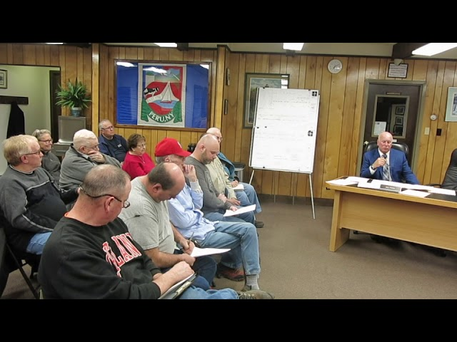 Peru Town Board Meeting  4-9-18