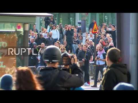 Sweden: Antifa clash with members of Nordic Resistance Movement as rally heats up