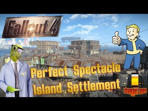 Fallout 4  Perfect Spectacle Island - Biggest Settlement