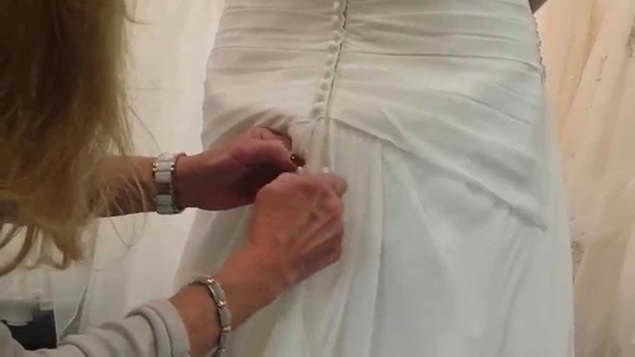 Wedding Gown Bustle Instruction For French And American