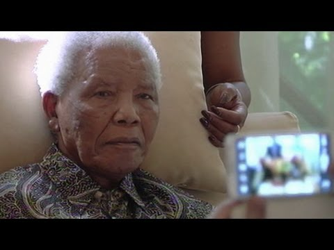 Nelson Mandela filmed at home in Johannesburg