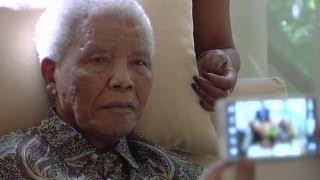 Nelson Mandela filmed at home in Johannesburg