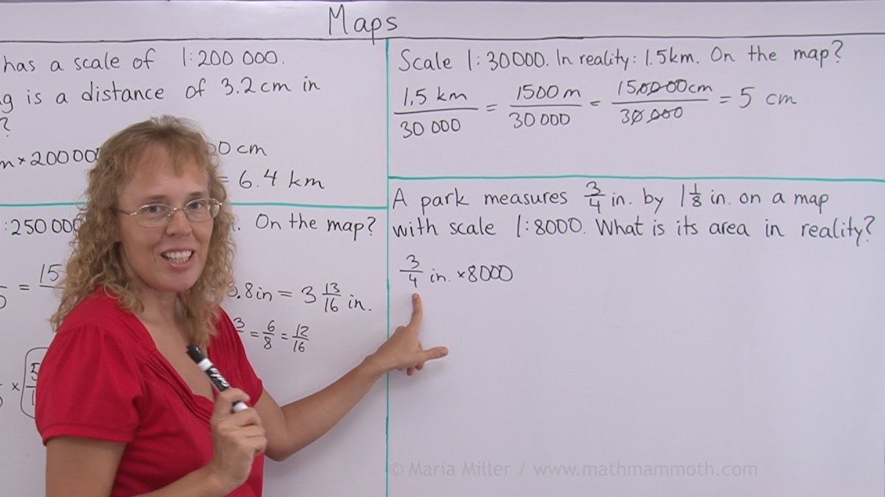How to calculate distances on the map or in reality using the map ...