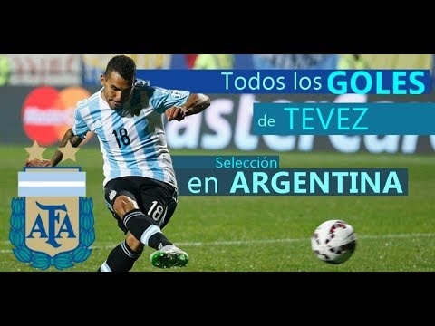 Todos los Goles de Tevez en la Selección Argentina