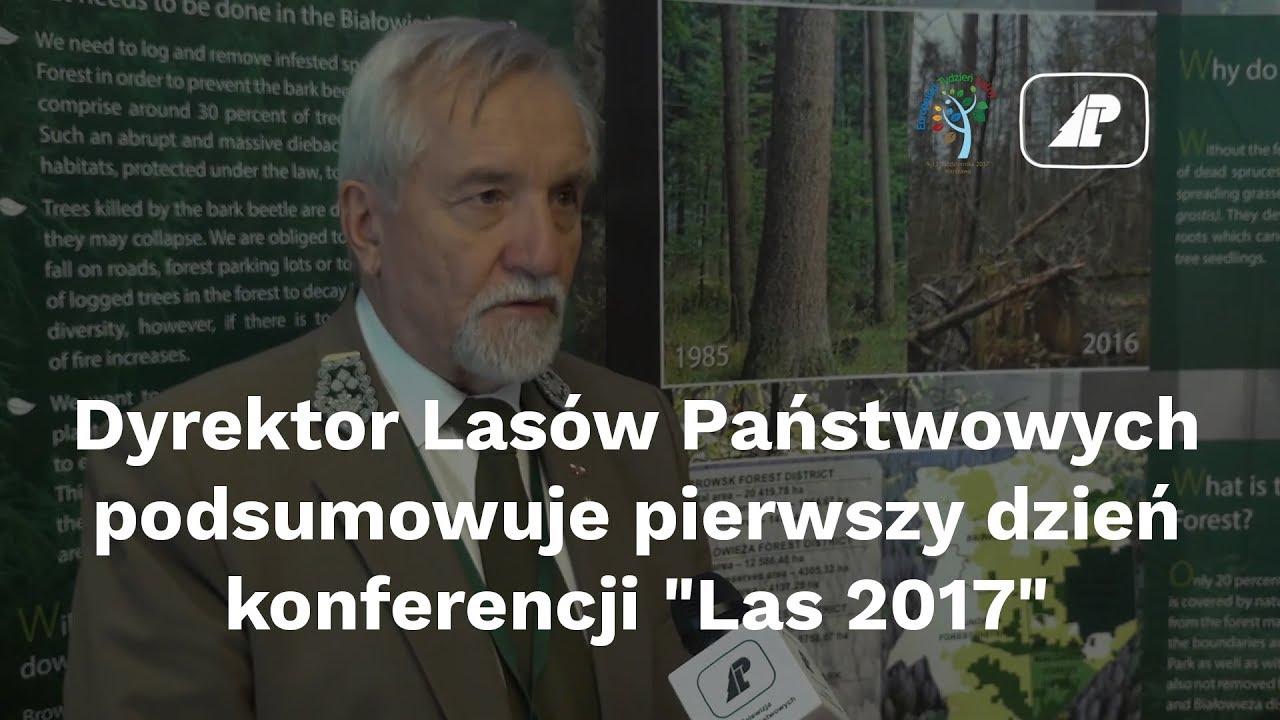 """Dyrektor LP podsumowuje pierwszy dzień konferencji """"Las 2017"""""""