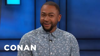 Percy Daggs III Averted His Eyes During Kristen Bell's Sex Scene - CONAN on TBS