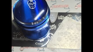 Review of Aliexpress Blue Chrome Clear Stamper & Halloween Plate + Knockoff Plate Rant DIY