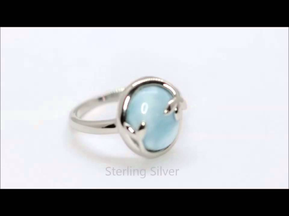 de5977615 Larimar Olive Leaf Ring Sterling Silver (GRX115) - YouTube